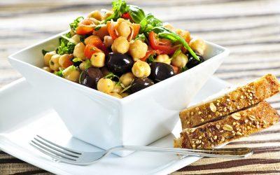 Ensalada de verduras y alubias