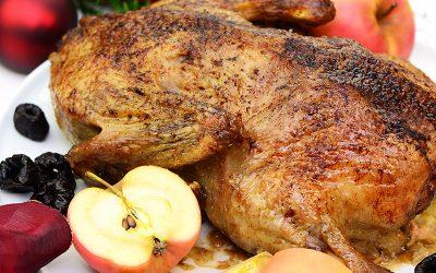 Pato con salsa de ciruela