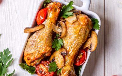Pollo en salsa dulce