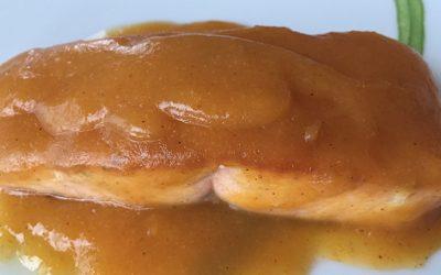 Salmón al mango