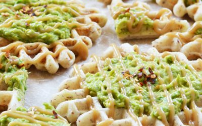 Waffles con aguacate