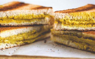 Sandwich de queso cheddar