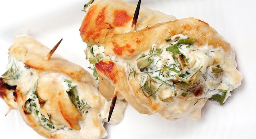 Rollo de pollo con verduras