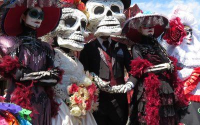 Celebración de día de muertos en México