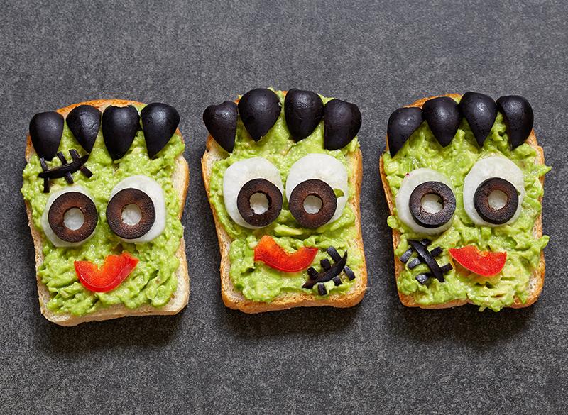 Pan tostado Frankenstein