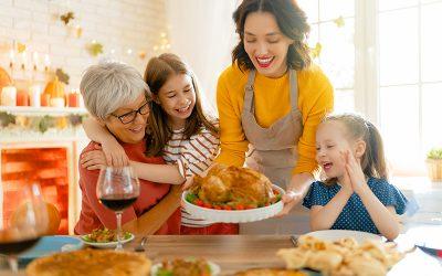 Menús para el día de Acción de Gracias