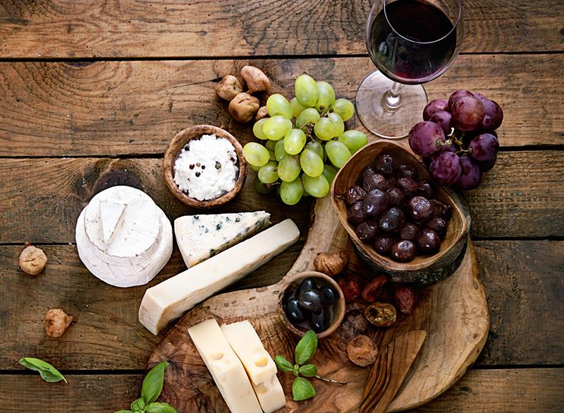 Uvas con queso