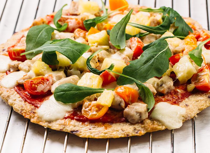 Pizza de base de coliflor